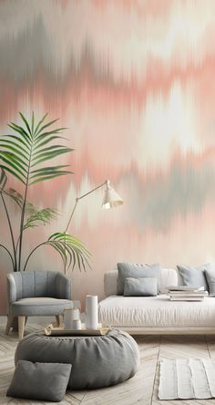 We adore this dreamy Peach and Grey Dye wallpaper! Our fabulous on trend collection of tie dye wallpaper murals vary from subtle pastel tones to jaw-dropping rainbow colours! Our tie dye murals are great for tweens, teens and adults: anyone who loves this cool, fun look! We have paste the wall or peel and stick wallpapers to choose from. Click to see our large collection of wall murals at wallsauce.com #wallmural # wallpaper #tiedye #homedecor Where to buy tie dye wallpaper. Tie-dye… Wallpaper Murals, Wall Murals, Grey Dye, Rainbow Colours, Design Your Home, Peel And Stick Wallpaper, Peach, Pastel, Wallpapers