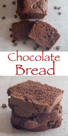 Chocolate Bread Recipe, Chocolate Glaze, Chocolate Desserts, Quick Bread Recipes, Baking Recipes, Cake Recipes, Nutella, Sweet Buns, Best Banana Bread