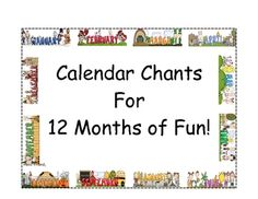 $ cute calendar chants for each month!