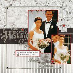 Wedding Scrapbook Layouts | 12X12 Layouts | Scrapbooking Ideas | Layouts featuring Fathers | Creative Scrapbooker Magazine #scrapbooking #12X12layouts #weddings