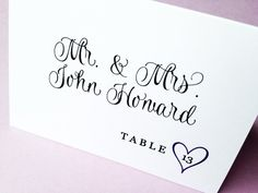 Wedding Wishes Place Cards  Set of 25 by LittleSparkCreations, $37.50 | Love this font.