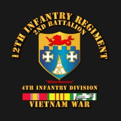 Check out this awesome '2nd+Bn+12th+Inf+w+VN+Svc+Ribbons' design on @TeePublic!