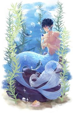 From lesfrites ... Free! - Iwatobi Swim Club, haruka nanase, haru nanase, haru, haruka, nanase, free!, iwatobi, merman
