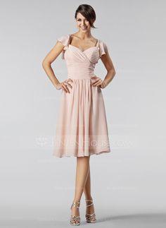 Bridesmaid Dresses - $98.99 - A-Line/Princess Sweetheart Knee-Length Chiffon Bridesmaid Dress With Ruffle Beading (007005233) http://jenjenhouse.com/A-Line-Princess-Sweetheart-Knee-Length-Chiffon-Bridesmaid-Dress-With-Ruffle-Beading-007005233-g5233?ver=1