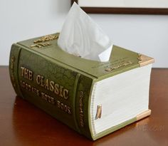 Gift Idea for Book Lovers – a Book Tissue Box Dispenser ...
