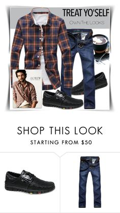 """Bez naslova #78"" by fashion-with-lela ❤ liked on Polyvore featuring J.Crew, men's fashion and menswear"