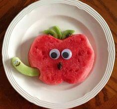 Watermelon apple snack is part of Food art lunch - Cute Snacks, Fun Snacks For Kids, Snacks Für Party, Cute Food, Kids Meals, Fruit Snacks, Kid Snacks, Kids Fun, Fruit Appetizers