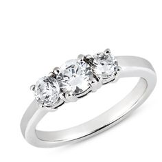 3 Stone Engagement Ring Mounting
