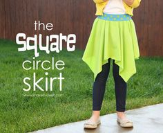The Square Circle Skirt (20-ish minutes to make) | Make It and Love It