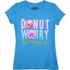 Shopkins Girls' Be Happy Short Sleeve Crew Neck Graphic Tee, Size: 6/6X, Green
