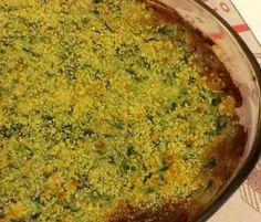 Gratinado de legumes e soja granulada
