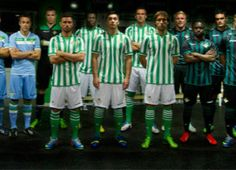 Real Betis Macron Home, Away and Third Kits Football Fashion, Soccer Jerseys, Home And Away, Black Stripes, Third, Product Launch, Kit, Sports, Football Jerseys