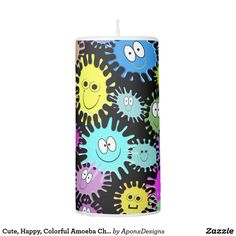 Shop Cute, Happy, Colorful Amoeba Characters Candle created by AponxDesigns. Candle Holders, Characters, Phone Cases, Candles, Colorful, Lights, Create, Happy, Design