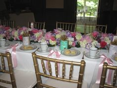 Bridal luncheon at John Jay Homestead in Katonah, N.Y. designed by Perennial Gardens.