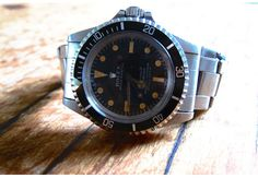 """GQ.com: 2. Vintage Rolexes """"Unfortunately, my latest vintage obsession is old Rolexes. I had been looking for this particular watch, a 1967 Submariner model 5512, for years. The hunt is what I love, and I don't even want to think about how many hours I've spent online searching for the right one, with the right look, at the right price. What I love about it is that it's all beat-up. The dial and markers have oxidized from the sun, and the riveted bracelet is amazing. Next stop is a…"""