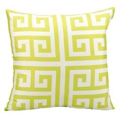 Greek Key Indoor/Outdoor Decorative Pillow - Lime