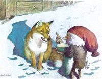 Fox And Tomtin By Astrid Lindgrin Astrid Lindgren Fairy Art Fox Art