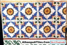AthangudiTiles.Com - Athangudi Tiles - Tile Designs Room Wall Tiles, Indian Crafts, Tile Design, Wood Crafts, Quilts, Blanket, Rugs, Antiques, Flowers