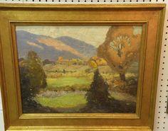 Landscape, oil on board, 16 x 20, Signed John T Barlow, dated 1945
