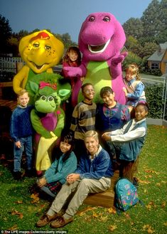 Barney's cast and crew were also pretty stunned by his new career choice (Pictured: Barney. Casey Burgess, 2000s Kids Shows, Barney The Dinosaurs, Barney & Friends, Old Movie Posters, 90s Nostalgia, Music Icon, Friend Pictures, Old Movies