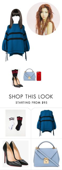 """""""June   Sister's Slam Dunk audition"""" by chloeemylee-xxi ❤ liked on Polyvore featuring Vetements, Sonia Rykiel, Christian Louboutin, Mark Cross and unnies1"""