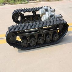 [Hot Item] Agricultural Machineries for Rubber Track with Chassis and Power Transmission. Diy Electronics, Electronics Projects, Homemade Tractor, Rc Tank, Diy Robot, Robot Concept Art, Robot Design, Tracking System, Chenille