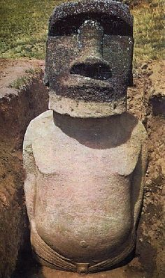 Easter Island heads have bodies!!