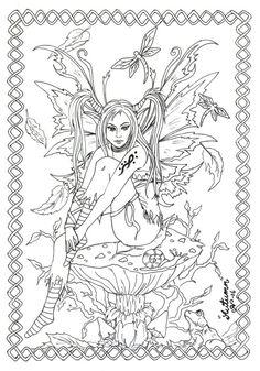 Autumn fairy line-art by kiti83 Deviantart