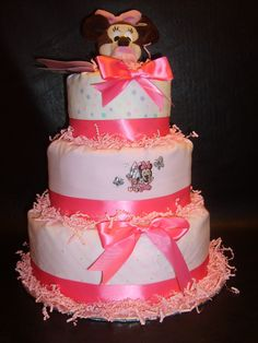 baby girl diaper cakes | Baby Girl Diaper Cakes