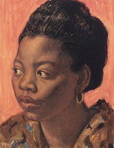 Chloe by Dame Laura Knight, British artist English Artists, British Artists, Afro Art, African American Art, Portrait Art, Portrait Paintings, Female Portrait, Art Paintings, Black Art