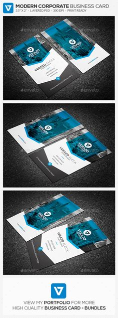 Clean & Modern Vertical Business Card Template - #Corporate #Business #Cards Download here: https://graphicriver.net/item/clean-modern-vertical-business-card-template/19544114?ref=alena994