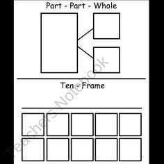 Ten Frame and Part-Part Whole Activity Sheet product from Kindergarten-Supplies on TeachersNotebook.com