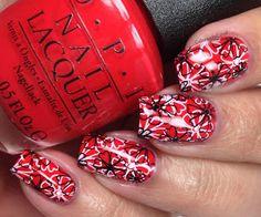 nails.quenalbertini: OPI Coca Cola Nail Art, Colores de Carol