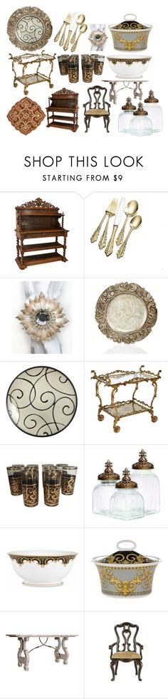 """""""Baroque"""" by pampire ❤ liked on Polyvore featuring interior, interiors, interior design, home, home decor, interior decorating, Wallace, Dransfield & Ross, Jay Import and Casa Cortes"""