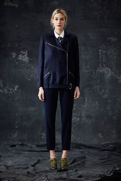 A girl that's boy inspired. Heeled oxfords necessary.  Jenni Kayne Fall 2014 Ready-to-Wear Collection Slideshow on Style.com