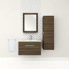 Cutler Kitchen & Bath - Textures Collection Wall Hung 30 Inch Driftwood - FV DW30 - Home Depot Canada $569