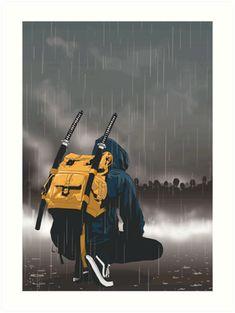 'modern day ninja' Art Print by – People Drawing Arte Ninja, Ninja Art, Fantasy Kunst, Fantasy Art, Urban Samurai, Deadpool Art, Sports Drawings, Animal Drawings, Samurai Artwork