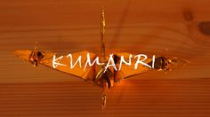 "Origami""KUMANRI"" veel connected cranes"