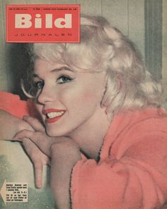 """Bild Journalen - 1959, magazine from Sweden. Front cover photo of Marilyn Monroe on the set of """"Some Like It Hot"""", 1958."""