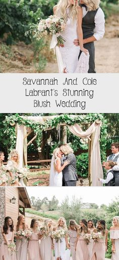 Savannah and Cole LaBrant's Stunning Blush Wedding - Inspired By This #MaroonBridesmaidDresses #ModestBridesmaidDresses #RusticBridesmaidDresses #ElegantBridesmaidDresses #RedBridesmaidDresses
