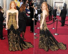 Jessica Chastain in an Alexander McQueen gown at the Oscars. Is this just the most gorgeous gown ever?