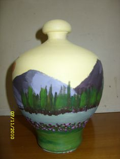 Decoupage, Vase, Drawings, Painting, Home Decor, Homemade Home Decor, Painting Art, Flower Vases, Sketch