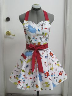 Dr. Seuss All Over Print Apron  Sweetheart by AquamarCouture