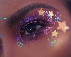 Glitter Makeup Looks, Makeup Eye Looks, Eye Makeup Art, Clown Makeup, Mac Makeup, Makeup Brushes, Chanel Makeup, Edgy Makeup, Cute Makeup