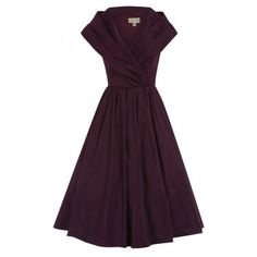 Amber Purple Occasion Swing Dress | Vintage Style Fashion - Lindy Bop