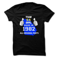 This Georgia Girl Made in... #Aged #Tshirt #year