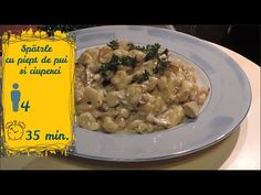 Spätzle cu piept de pui și ciuperci | Raluca Gheorghe - YouTube Risotto, Chicken, Meat, Ethnic Recipes, Youtube, Food, Meal, Essen, Youtubers