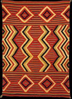 Wearing Blanket, 1860-1870, Navajo, United States, wool. Metropolitan Museum of Art.