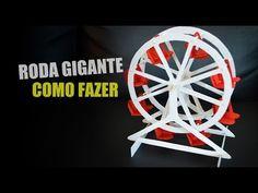 Como fazer uma Roda Gigante - Passo a Passo com Papel Paraná e palitos -...