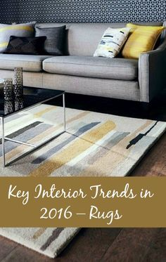 Key Interior Trends in 2016 - Rugs – A Beautiful Space Living Room Designs, Living Room Decor, Carpet Trends, Bedroom Carpet, Home Decor Furniture, Home Decor Trends, Floor Rugs, Rugs On Carpet, Interior Design